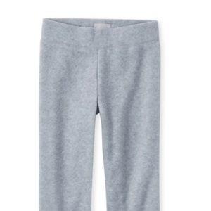 NWT Girls Fleece pants. Gray. Sz Lrg 10/12